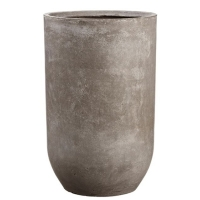 Pot cylindrique en ciment 26,75 x 16,75''