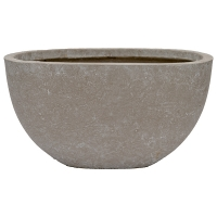 Half Sphere Cement Pot, 11 x 12 x 20,5''