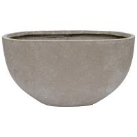 Half Sphere Cement Pot, 13 x 15 x 25,5''