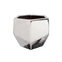 Pot en céramique argent 5 x 5 x 4,5''