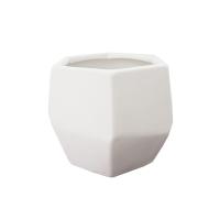 Pot en céramique blanc mat 5 x 5 x 4,5''