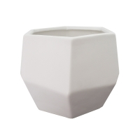 Pot en céramique blanc mat 6,5 x 6,5 x 5,5''