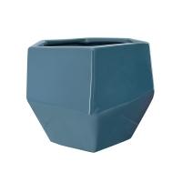 Pot en céramique bleu 6,5 x 6,5 x 5,5''