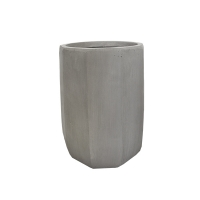 Modern Fiberglass Outdoor Pot, 14''