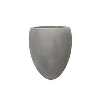 Grey Fiberglass Outdoor Pot, 18''