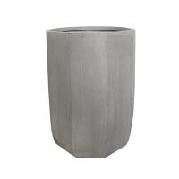 Modern Fiberglass Outdoor Pot, 20''