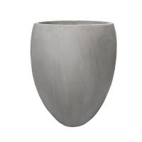 Grey Fiberglass Outdoor Pot, 24''