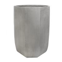 Modern Fiberglass Outdoor Pot, 28''
