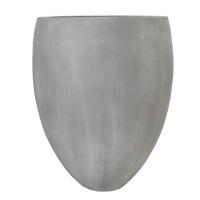 Grey Fiberglass Outdoor Pot, 33''