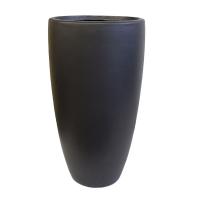 Pot en fibre de verre nuevo noir int./ext.22x22x39.5''