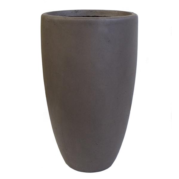 Taupe nuevo clayfibre pot int ext 22x22x39 5 for Pot en verre deco