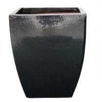 Pot gris charcoal terre cuite céramiqué 19 x 19 x 21,3''