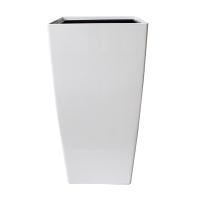 Pot haut carré en plastique blanc int./ext. 16 x 16 x 30''
