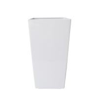 Pot haut carré en plastique blanc int./ext. 21 x 11 x 11''