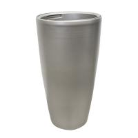 Pot haut rond en plastique gris foncé int./ext. 15,5 x 15,5