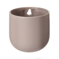 Taupe ceramic wall planter 4 x 3,5 x 3,5''