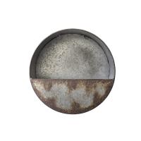 Pot mural rond en métal 10 x 10 x 3''