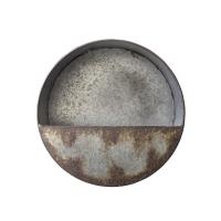 Pot mural rond en métal 12,5 x 12,5 x 4''