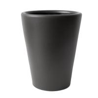 Pot rond en céramique noir 12,4 x 12,4 x 14''