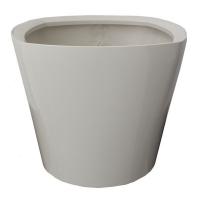 Pot de plastique rond blanc 14x14x12''