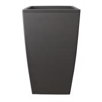 Pot plastique gris rectangulaire 18x18x32''