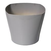 Plastic planter round gray 14x14x12''