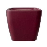 Pot plastique rouge carré 17x17x16''