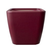 Red square plastic pot 17x17x16''