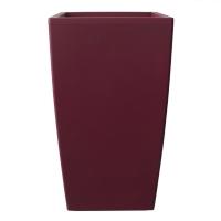 Pot plastique rouge rectangulaire 18x18x32''