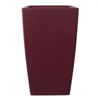Red rectangular plastic pot 18x18x32''