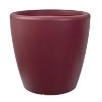 Red round plastic pot 14x14x13,5''