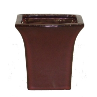Pot rectangulaire rouge 4.5x5''