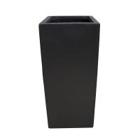 Pot rectangulaire en fibre de verre noir 11 x 11 x 24''
