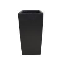 Pot rectangulaire en fibre de verre noir 9 x 9 x 20''