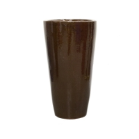 Round dark brown planter 22 x 12 x 12''