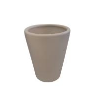 Pot rond en céramique beige  10 x 10 x 12,6''