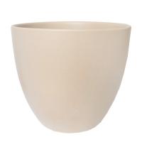 Pot rond en céramique beige 15 x 15 x 13''