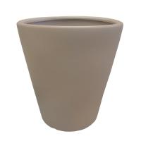 Pot rond en céramique beige 15 x 15 x 16,5''