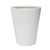 Pot rond en céramique blanc lustré 12,4 x 12,4 x 14''