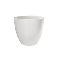 Pot rond en céramique blanc mat 10 x 10 x 11''