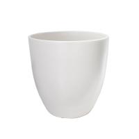 Pot rond en céramique blanc mat 12 x 12 x 12''