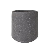 Round Dark Grey Ceramic Pot, 7