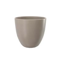 Pot rond en céramique taupe 10 x 10 x 11''