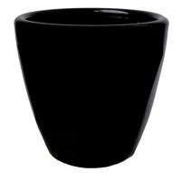 Pot rond en plastique noir 14x14x13.5''