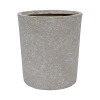 Round Cement Pot, 10 x 9,5''