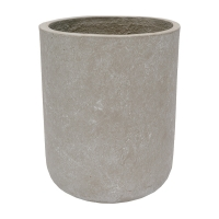 Round Grey Cement Pot, 12 x 10''