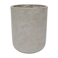 Round Grey Cement Pot, 15 x 12''
