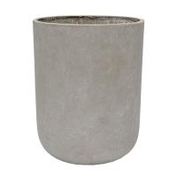 Round Grey Cement Pot, 19 x 15''