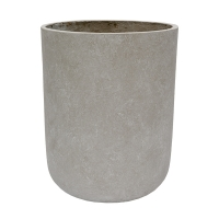Round Grey Cement Pot, 20,5 x 16,5''