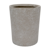 Round Cement Pot, 8 x 7''